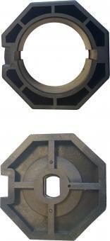 Adapter für 8-Kantwelle 70mm