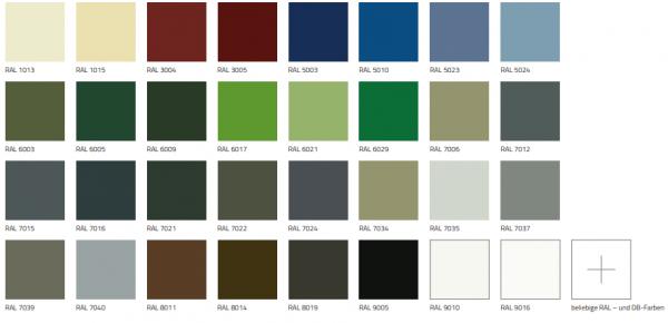 RAL-Farben 1 Seitig für Nebentüren